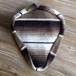 Authentic Mexican Blanket Seat Cover - Brown/Black