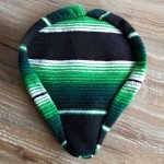 Authentic Mexican Blanket Seat Cover - Green/Black