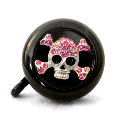 Pink Skull Bike Bell By CruiserCandy.com