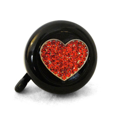 Red Heart Bike Bell By CruiserCandy.com