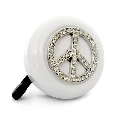 Peace Sign Bike Bell By CruiserCandy.com
