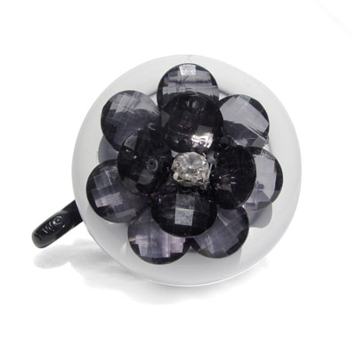 Black Flower Bike Bell By CruiserCandy.com