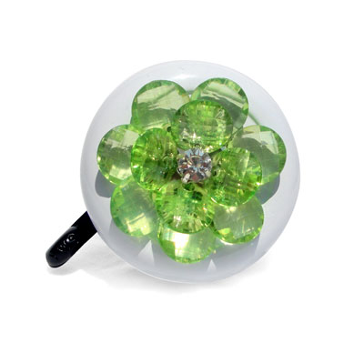 Green Flower Bike Bell By CruiserCandy.com