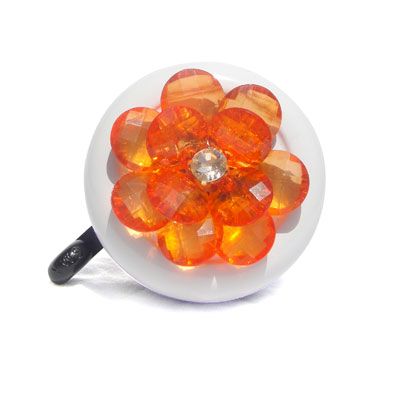 Orange Flower Bike Bell By CruiserCandy.com