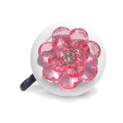 Pink Flower Bike Bell By CruiserCandy.com