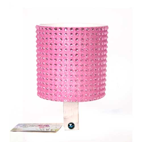 Baby Pink Rhinestone Drink Holder by CruiserCandy.com