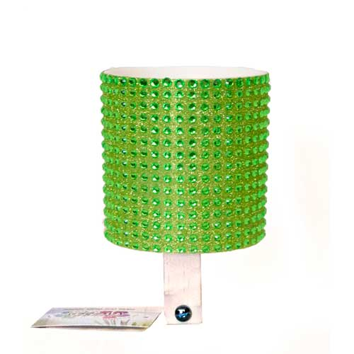 Green Rhinestone Drink Holder by CruiserCandy.com