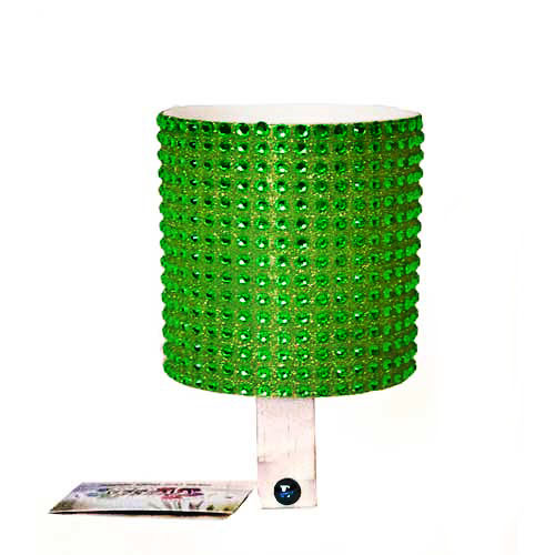 Green Green Rhinestone Drink Holder by CruiserCandy.com