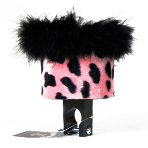 Pink Dalmation Bike Water Bottle Holder by CruiserCandy.com