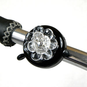 White Flower Bike Bell By CruiserCandy.com
