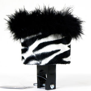 White Zebra Cute Bike Water Bottle Holder