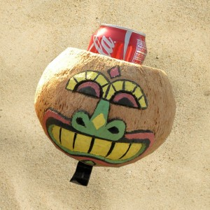 Coconut Glad Face Drink Holder By CruiserCandy.com