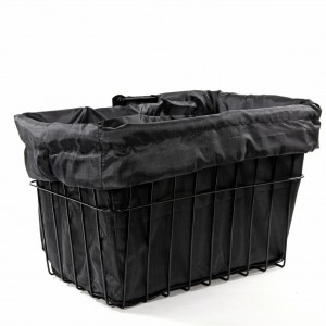 Black Bike Basket Liner by CruiserCandy.com