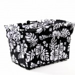 Black & White Hibiscus Bike Basket Liner by CruiserCandy.com