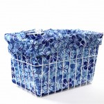Blue Hawaiian Bike Basket Liner by CruiserCandy.com