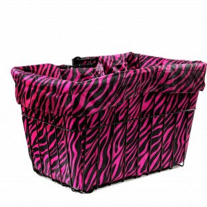 Hot Zebra Bike Basket Liner by CruiserCandy.com