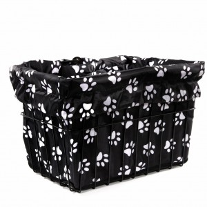Dog Paw Bike Basket Liner by CruiserCandy.com