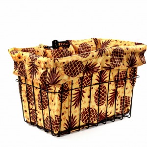Pineapple Upside Down Bike Basket Liner by CruiserCandy.com