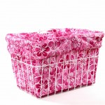 Pink Hawaiian Bike Basket Liner by CruiserCandy.com