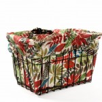 Wild Tropical Bike Basket Liner by CruiserCandy.com