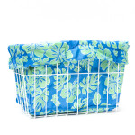 CruiserCandy - Blue/Green Hibiscus Bicycle Basket Liner