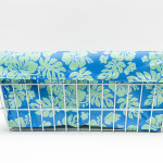 CruiserCandy - Trike Basket Liner - Blue/Green Hibiscus