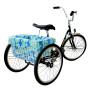 CruiserCandy - Trike Basket Liner - Blue/Green Hibiscus
