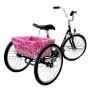 CruiserCandy - Large Adult Trike Basket Liner - Pink Hawaiian