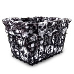 Sugar Skulls Bike Basket Liner by CruiserCandy.com
