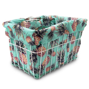 Pineapple Fantasy Bike Basket Liner by CruiserCandy.com