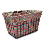 Spring Flower Bike Basket Liner by CruiserCandy.com