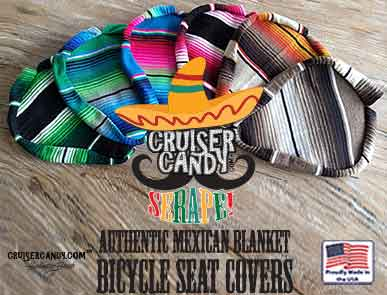 Authentic Mexican Blanket Bicycle Seat Cover