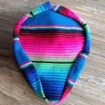 Authentic Mexican Blanket Seat Cover - Pink/Blue