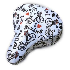 Bicycle Seat Cover I Love My Bike