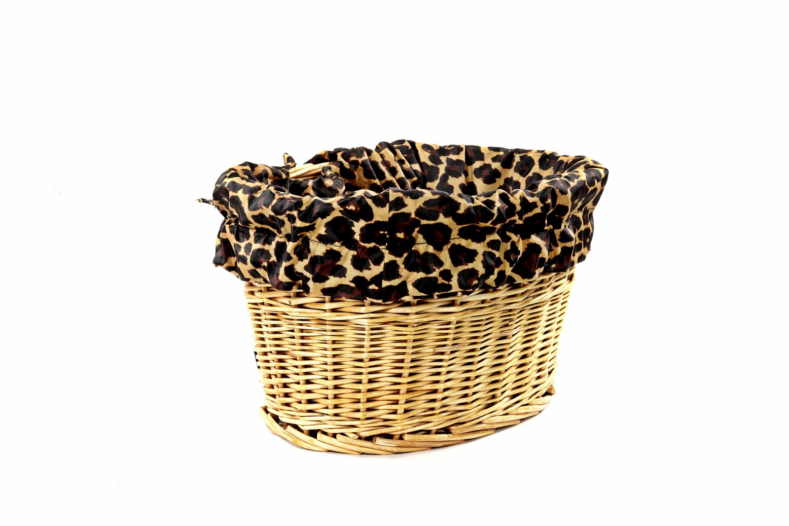 Leopard Bike Basket Liner By Cruisercandy Cruiser Candy